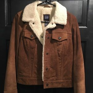 Vintage Gap 100% Leather Bomber Jacket